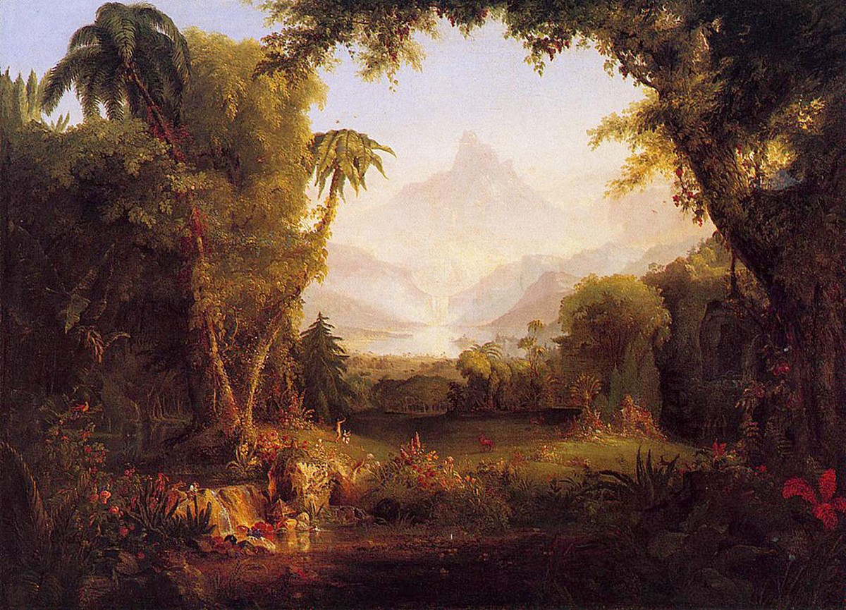 Awesome Cole-Thomas-The-Garden-of-Eden-1828