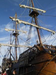 Barcelona city caravel boat strategical blog