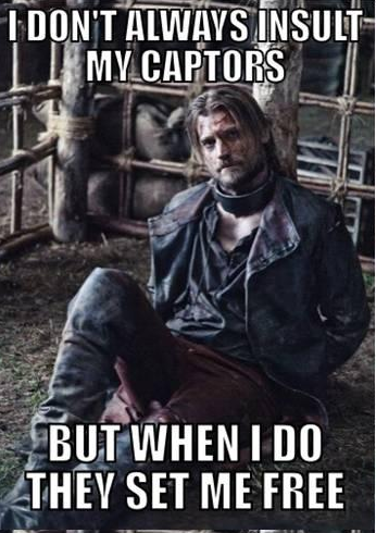 game of thrones funny memes jaime jailed
