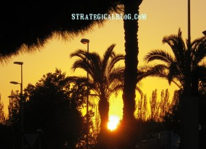 strategicalblog sunset in spain gold